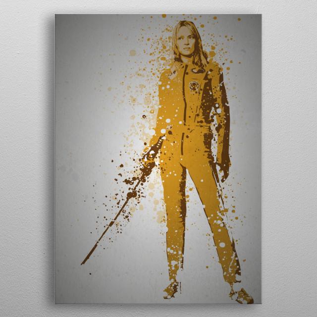 """The Bride"" Splatter effect artwork inspired by Kill Bill. metal poster"