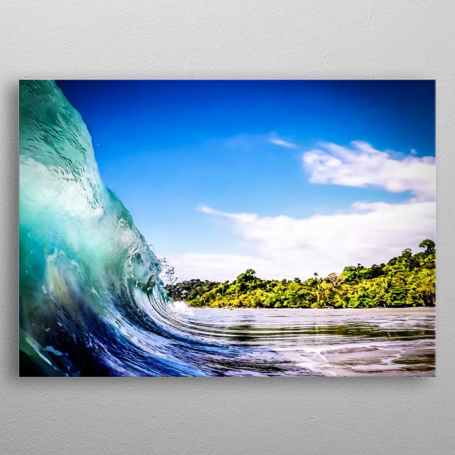 Tropical Wave metal poster