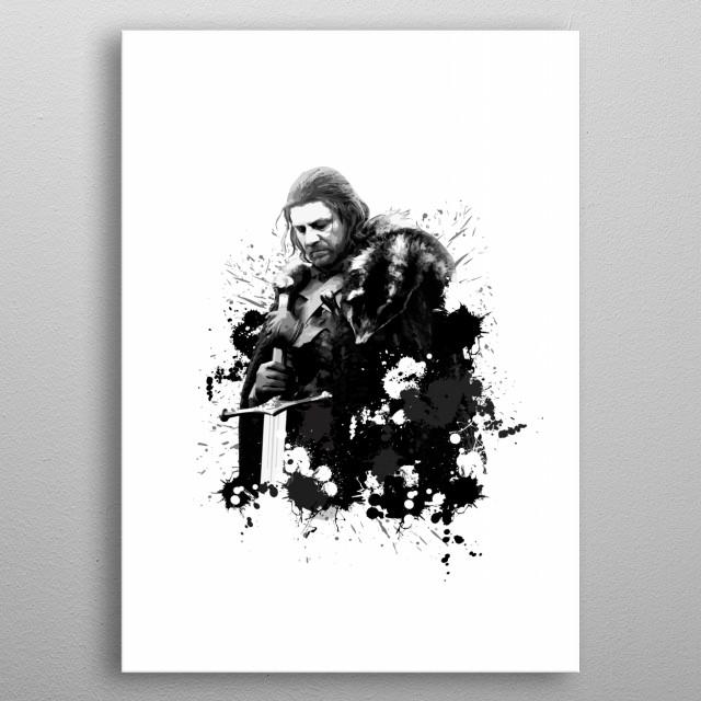 Eddard Stark metal poster
