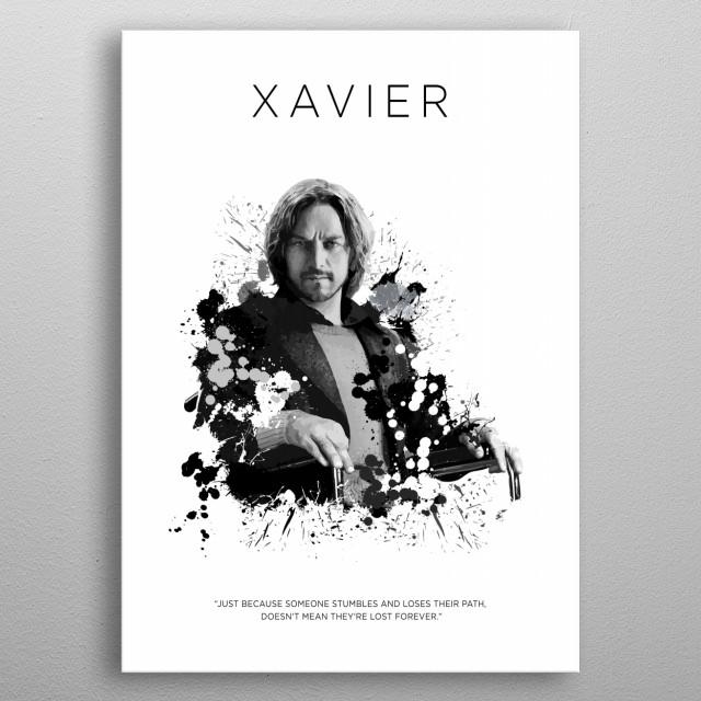Charles Xavier metal poster