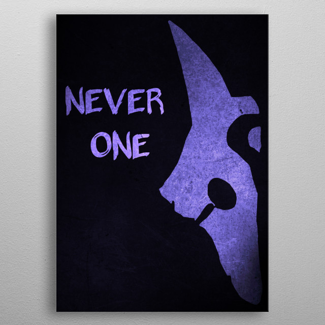 NEVER ONE...  metal poster