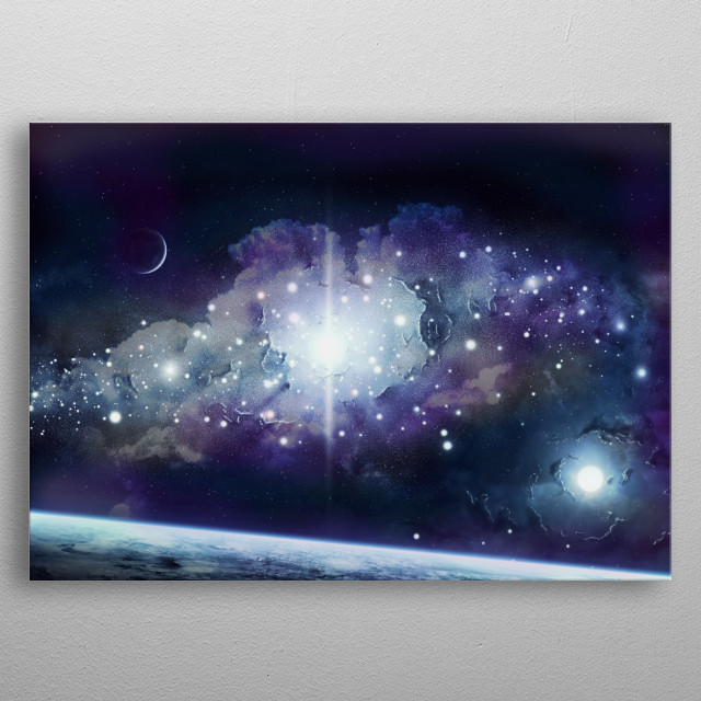 Outer Space Night Sky metal poster