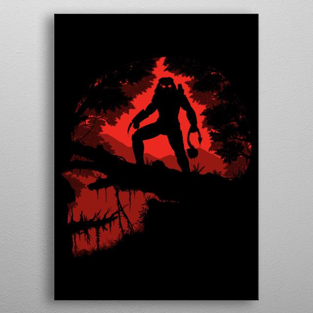 Jungle Hunter metal poster