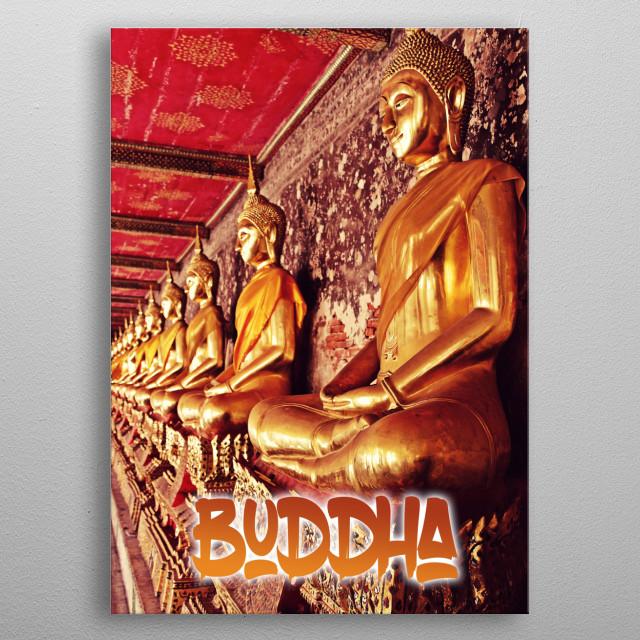 Buddha statue - Thailand metal poster