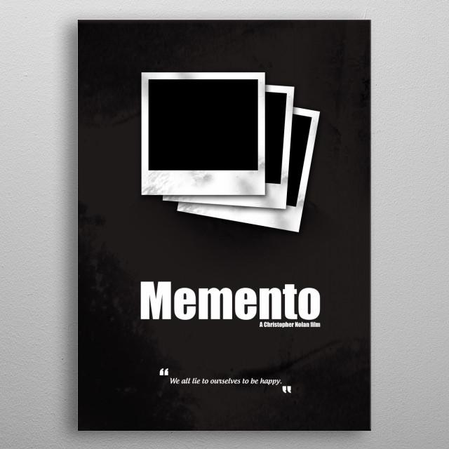 Memento. Minimal Movie Poster - A Christopher Nolan Film. metal poster
