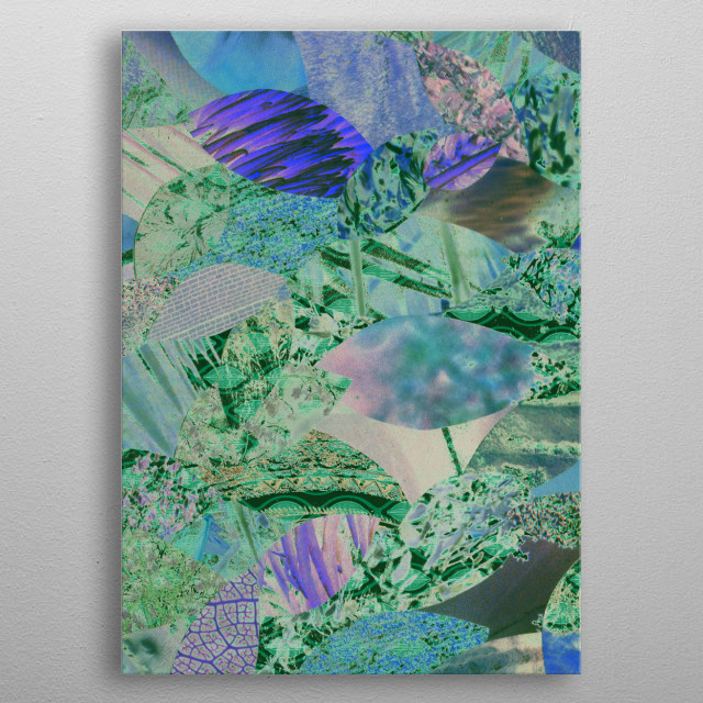 Nature Collage metal poster