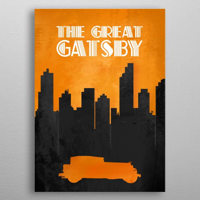 The Great Gatsby - Minimal Movie Poster. metal poster