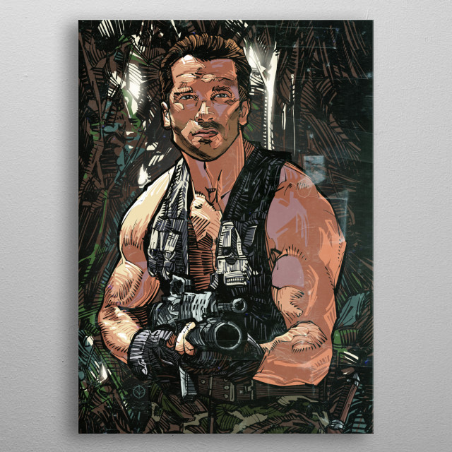 Part of the Action Movie Legends print series. metal poster