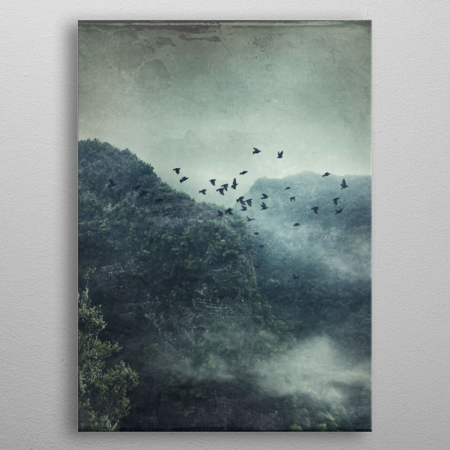 Misty Mountains Vol. X metal poster