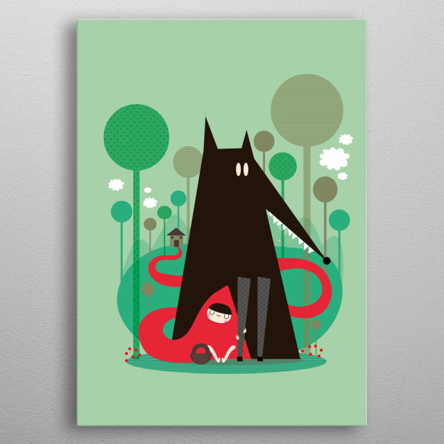 Tribute to fairytale Little red metal poster