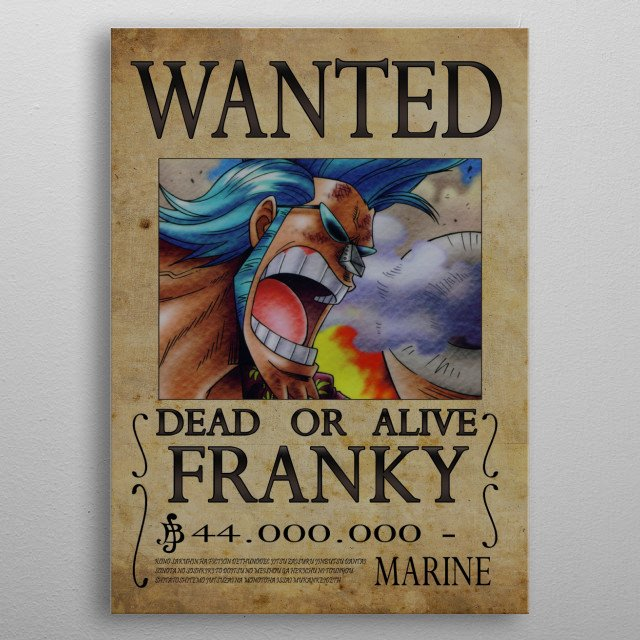 High-quality metal print from amazing One Piece Wanted collection will bring unique style to your space and will show off your personality. metal poster