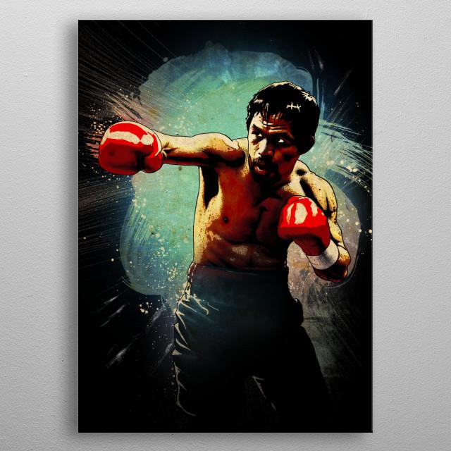 Manny metal poster
