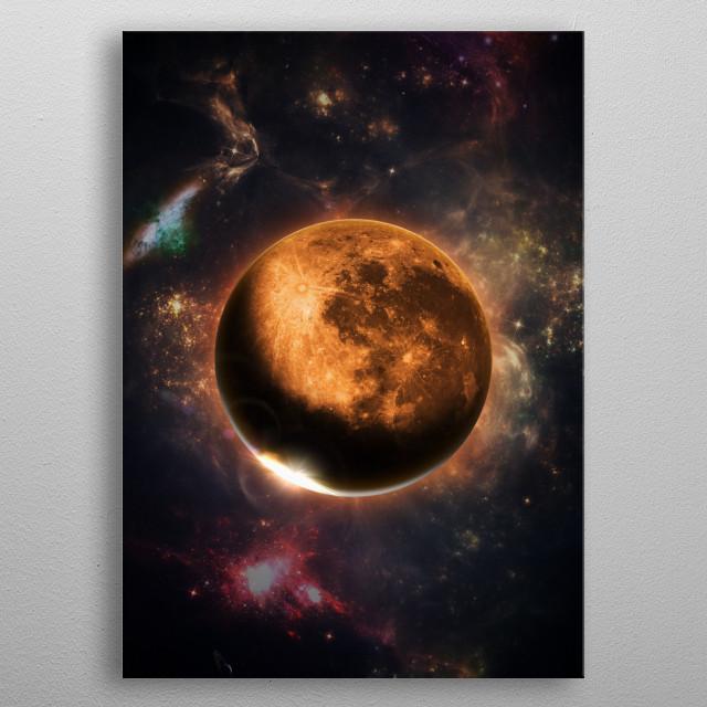 Full Moon metal poster
