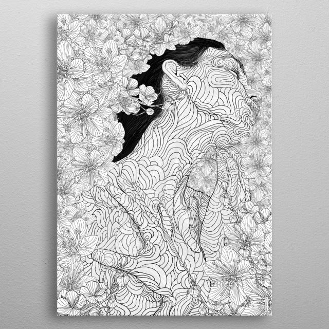 High-quality metal print from amazing Line Drawings collection will bring unique style to your space and will show off your personality. metal poster