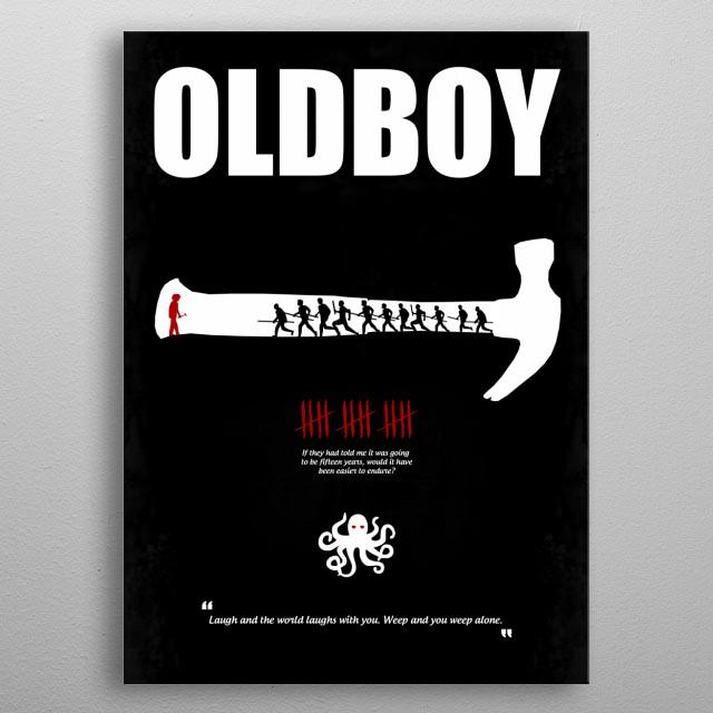 Oldboy - Minimal Movie Poster. A Film by Chan-wook Park. metal poster