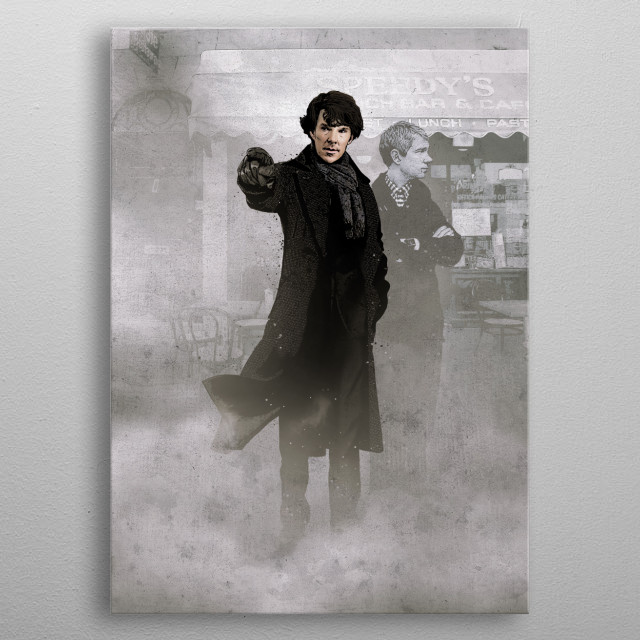 Sherlock metal poster
