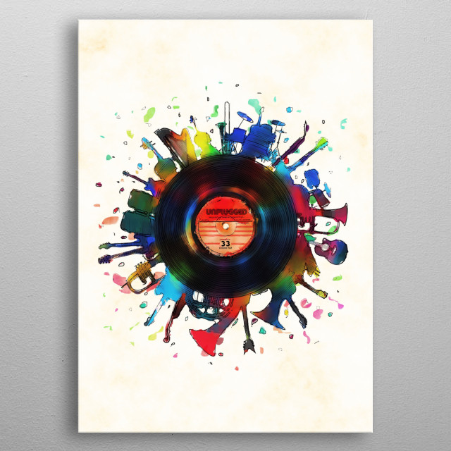 unplugged... metal poster