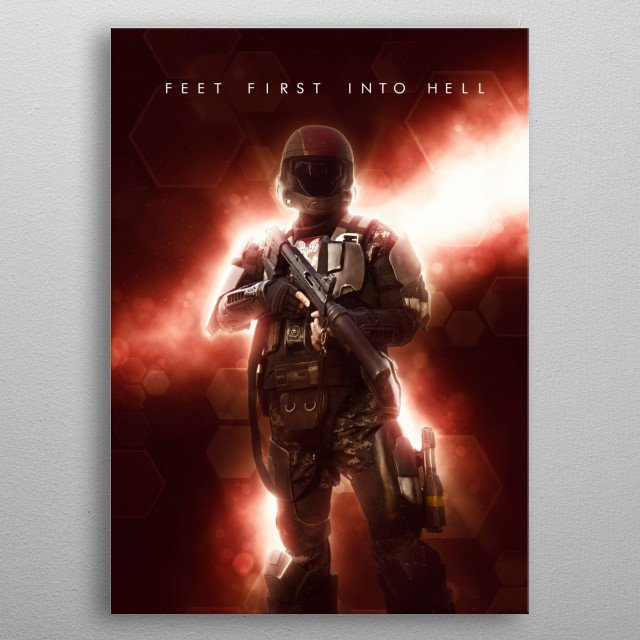 Feet First Into Hell! metal poster