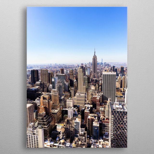 New York Cityscape metal poster
