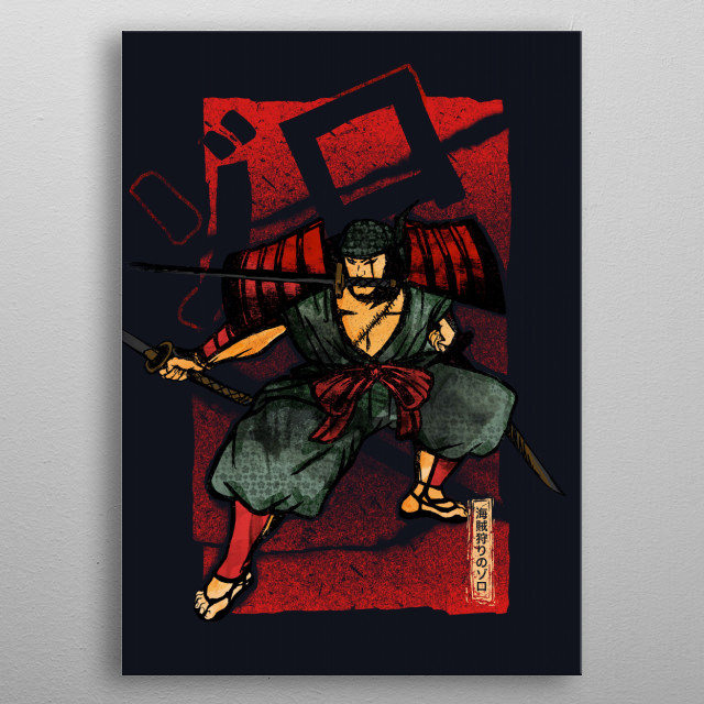 Samurai | Zoro the pirate hunter metal poster