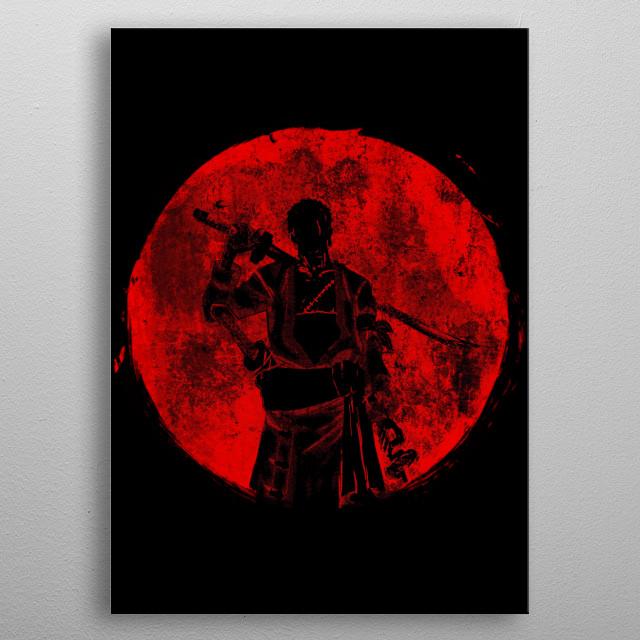 Crimson Zoro metal poster