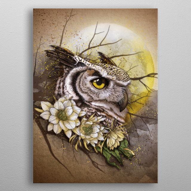 owl metal poster