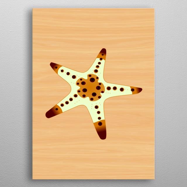 Sea Star 2 metal poster