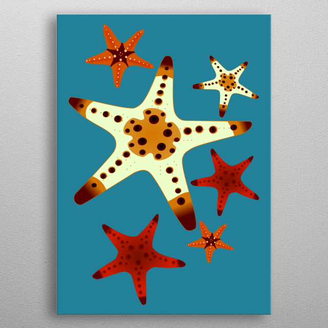 Star Fish metal poster