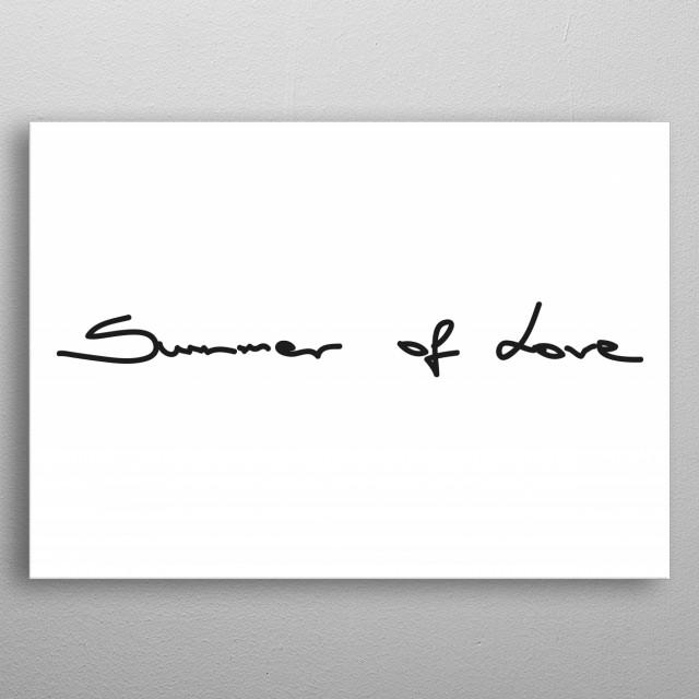 SUMMER OF LOVE metal poster