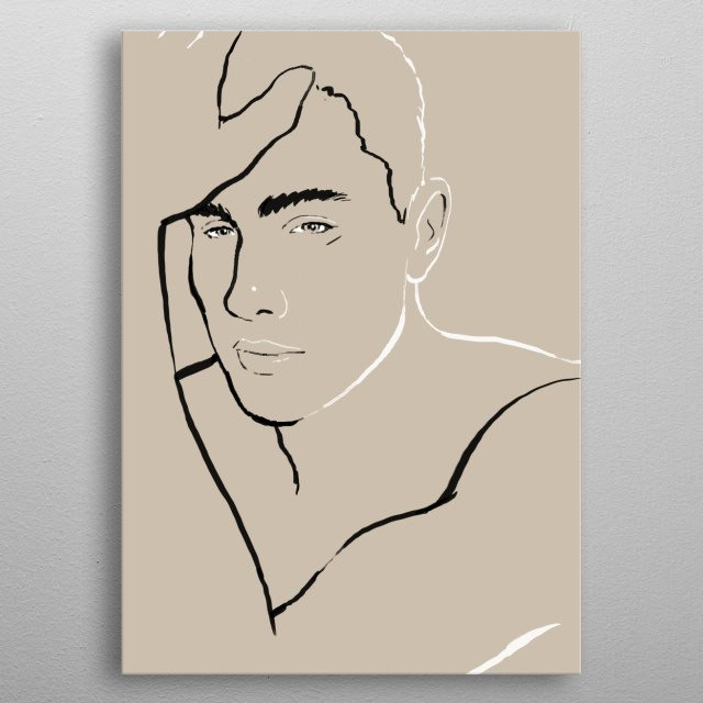 High-quality metal print from amazing Les Hommes collection will bring unique style to your space and will show off your personality. metal poster