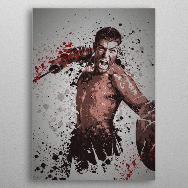 """Bringer of Rain"" Splatter effect artwork inspired by the TV show Spartacus. metal poster"