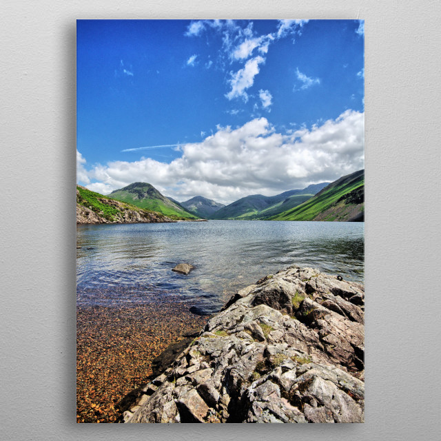 Wastwater in the Lake District National Park, Cumbria metal poster