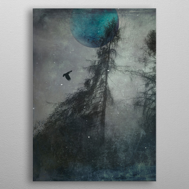 blue moon wilderness metal poster