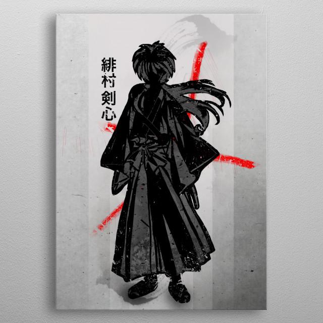 Rurouni | Samuari metal poster