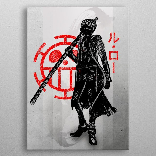 Trafalgar Law | Heart Pirates metal poster