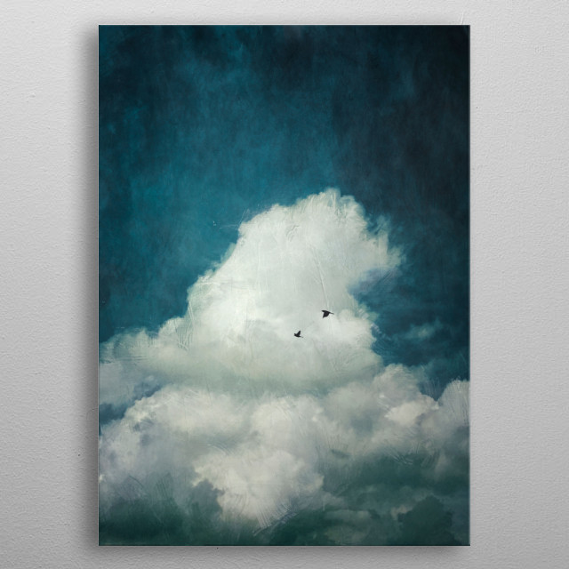 the Cloud - painterly image of a cumulus cloud metal poster
