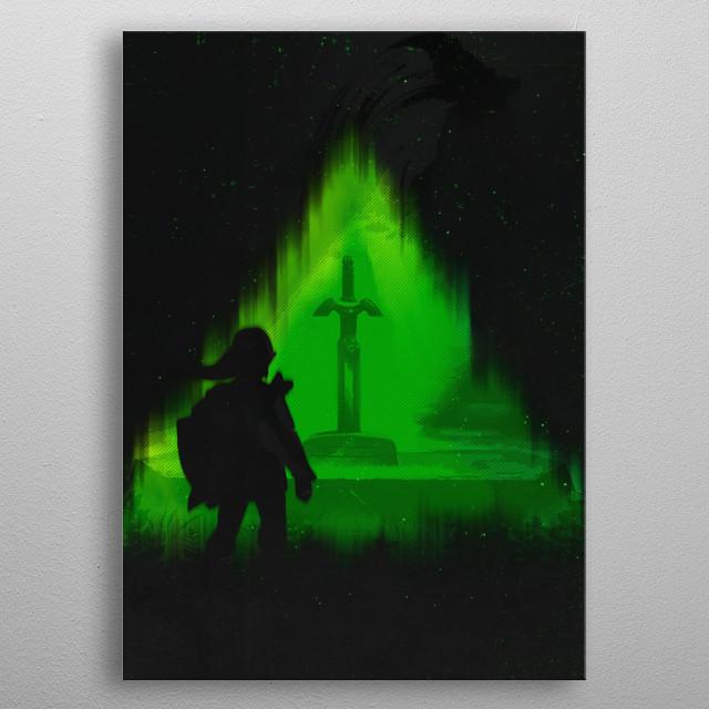 Master Swordsman metal poster