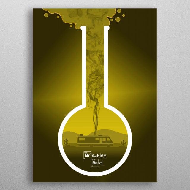 Breaking Bad - Minimal TV Poster - Yellow metal poster