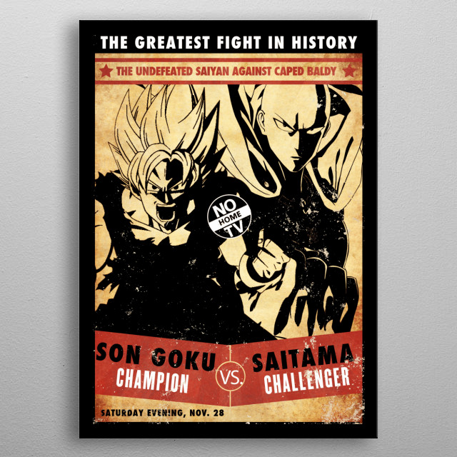 ** The greatest fight in history ** metal poster