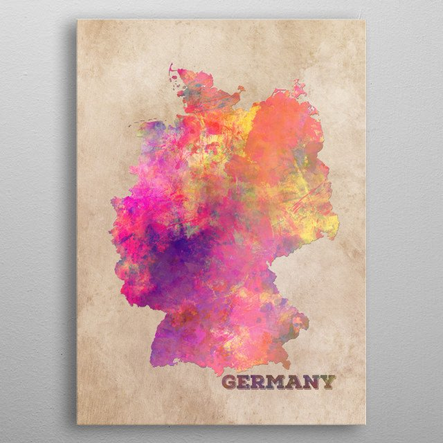 Germany map metal poster
