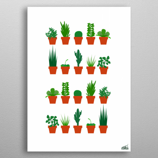 Small Plants metal poster