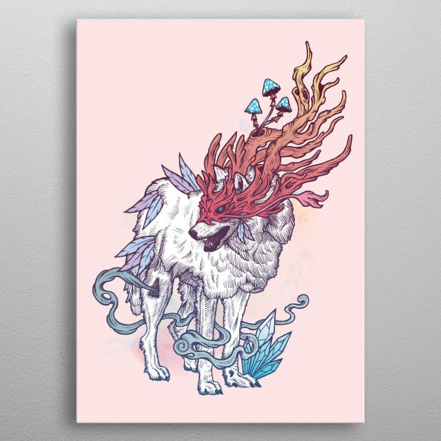 Spirit Wolf metal poster