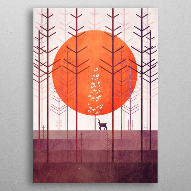 Silent Forest metal poster