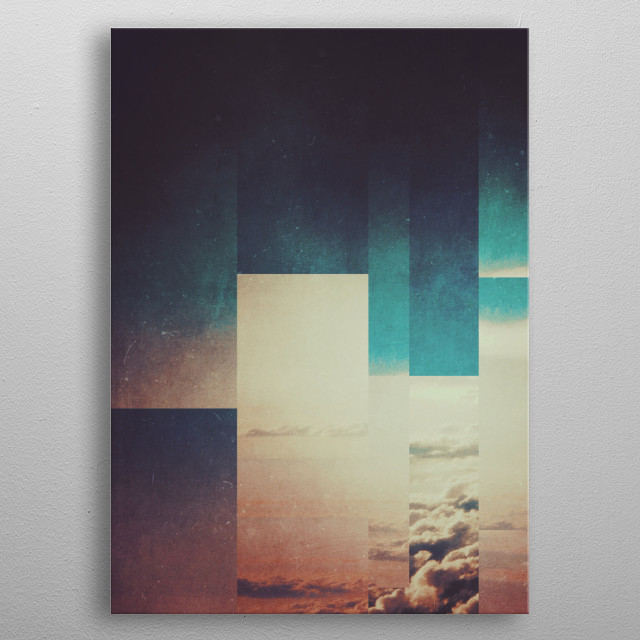 High-quality metal print from amazing Fractions A01 collection will bring unique style to your space and will show off your personality. metal poster