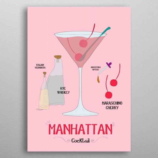 Manhattan metal poster