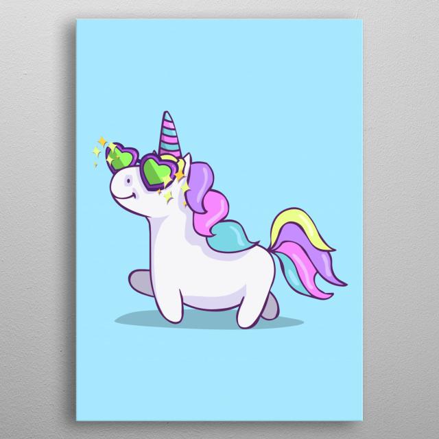 Fabulous Unicorn metal poster