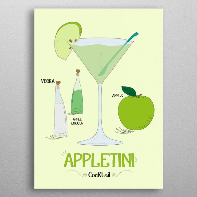 Appletini metal poster