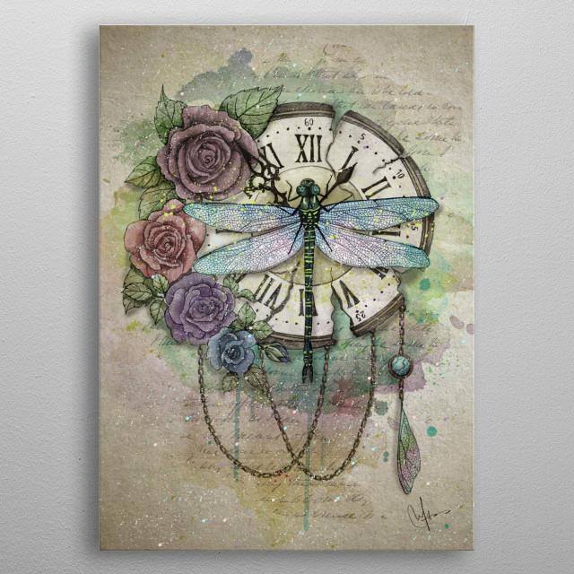 Time Flies metal poster
