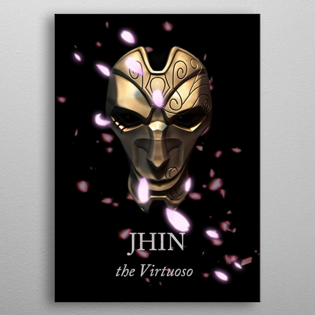 Jhin, the Virtuoso. modeled and rendered in zbrush, edited in photoshop metal poster