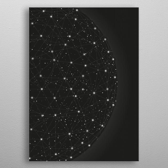 Abstract light world metal poster
